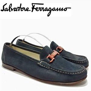 Salvatore Ferragamo Sport Suede Loafer Wo's Sz 8AA